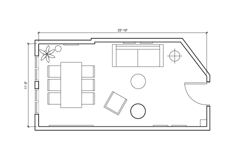 Floor-plan of 648 Broadway, 2nd Floor, Suite 203