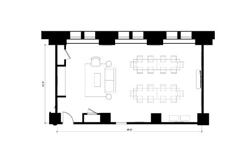 Floor-plan of 69 Yonge St., 7th Floor, Suite 705