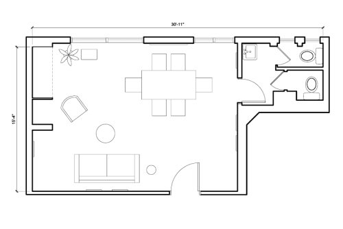 Floor-plan of 6-7 Hatton Garden, Farringdon, #2, 6-7 Hatton Garden, Farringdon, 4th Floor, Room 2