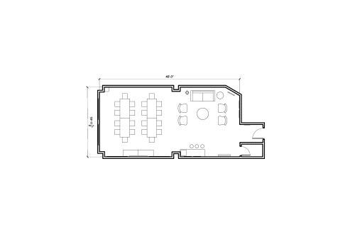 Floor-plan of 724 S. Spring St., 14th Floor, Suite 1403
