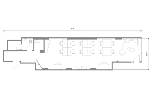 Floor-plan of 750 N. Franklin, Door C, 2nd Floor, Suite 204