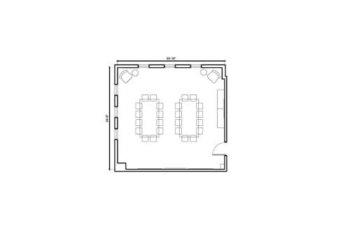 Floor-plan of 7561 Sunset Blvd., 2nd Floor, Suite 203