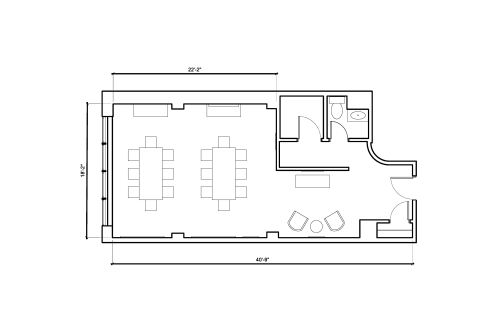 Floor-plan of 8 East 41st Street, 4th Floor, Suite 1