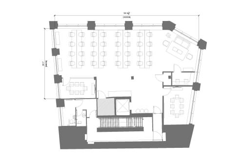 Floor-plan of 80 Clerkenwell Road, Clerkenwell, 1st Floor