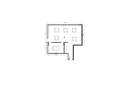 Floor-plan of 813 W. Randolph, 2nd Floor, Suite 200, Room B