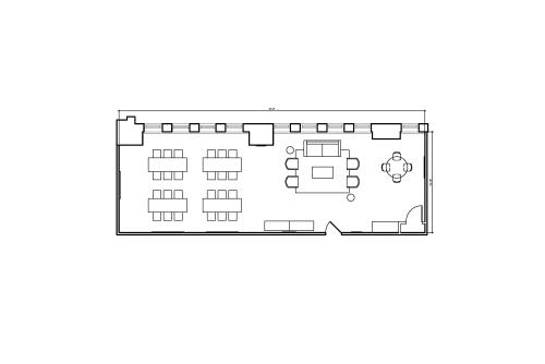 Floor-plan of 86 Chambers Street, 2nd Floor, Suite 201