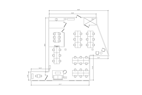 Floor-plan of 900 Broadway, 10th Floor, Suite 1003