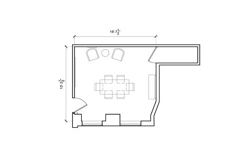 Floor-plan of 915 Broadway, 8th Floor, Suite 803, Room 1