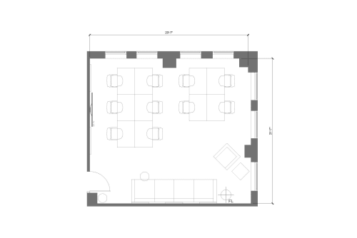 Floor-plan of 915 Broadway, 8th Floor, Suite 803, Room 2