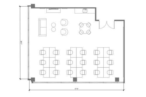 Floor-plan of 9229 Sunset Blvd., 6th Floor, Suite 607