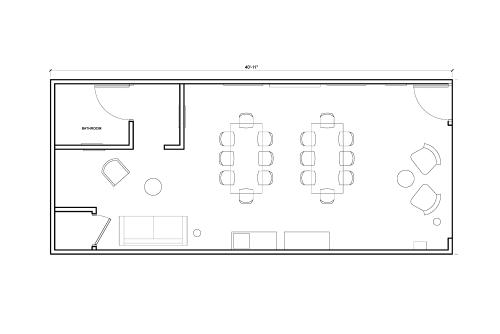 Floor-plan of 9314 Venice Blvd.