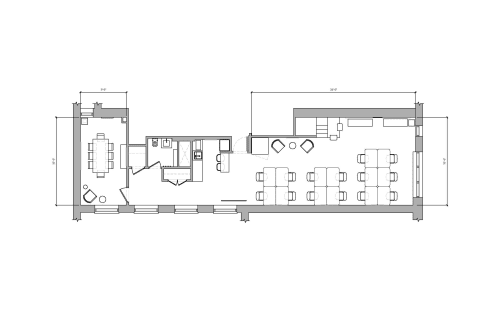 Floor-plan of 95 Grand Street, 2nd Floor