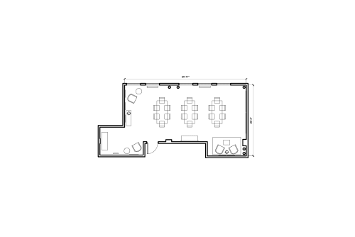 Floor-plan of 965 Mission St., 4th Floor, Suite 400