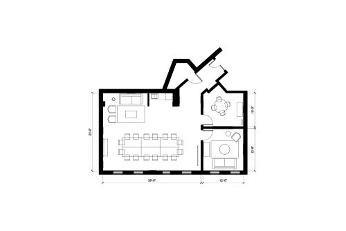 Floor-plan of 8255 Beverly Blvd., 2nd Floor, Suite 217