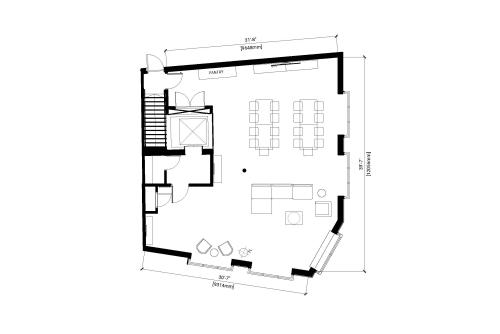 Floor-plan of 80 Clerkenwell Road, Clerkenwell, 5th Floor, Room The Penthouse
