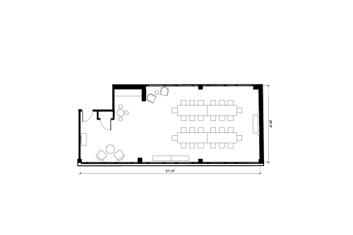 Floor-plan of 100 Clifton Street, Shoreditch, #3, 100 Clifton Street, Shoreditch, 3rd Floor, Room 3