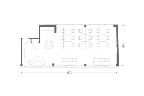Floor-plan of 100 Clifton Street, Shoreditch, #3, 100 Clifton Street, Shoreditch, 3rd Floor, Room 3