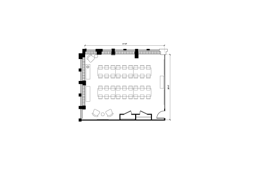 Floor-plan of 1100 G Street NW, 10th Floor, Suite 1030, Room 1
