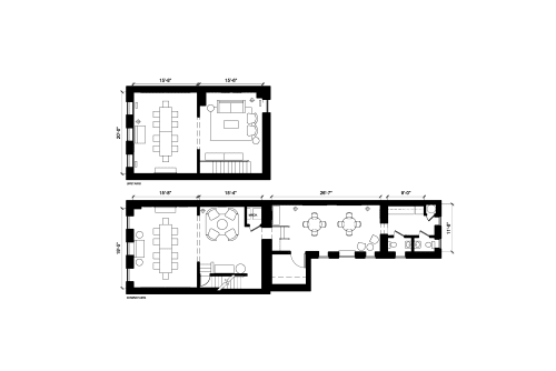 Floor-plan of 1413 Wisconsin Ave. NW