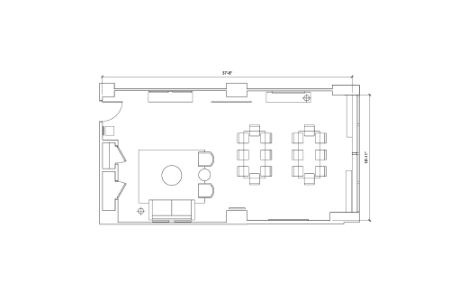 Floor-plan of 1901 Pennsylvania Ave. NW, 8th Floor, Suite 805, Room B