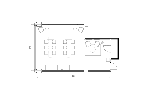 Floor-plan of 444 North Capitol Street NW, 7th Floor, Suite 730, Room A