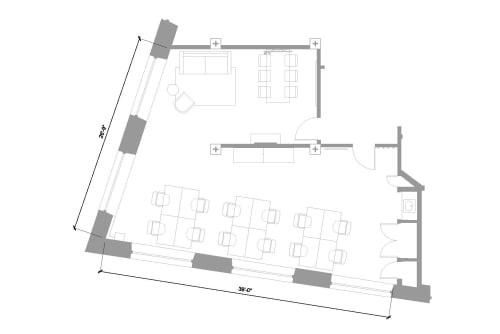 Floor-plan of 1 Dufferin Street, Shoreditch, 4th Floor, Room 1