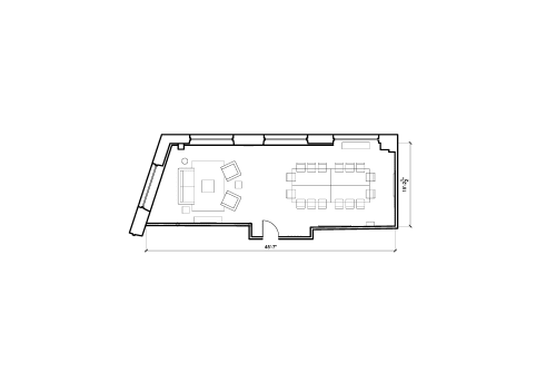 Floor-plan of 1 Dufferin Street, Shoreditch, 4th Floor, Room 2