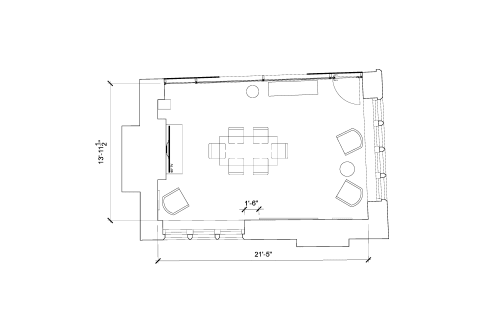 Floor-plan of 14 Golden Square, Soho, 14 Golden Square, Soho, Ground Floor