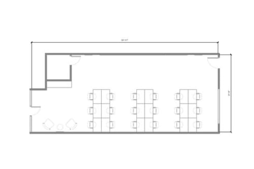 Floor-plan of 10317 Jefferson Blvd.