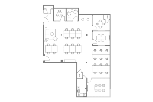 Floor-plan of 8322 Beverly Blvd., 2nd Floor, Suite 204