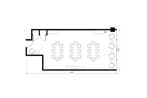 Floor-plan of 1130 Sherbrooke O., 3rd Floor, Suite 360