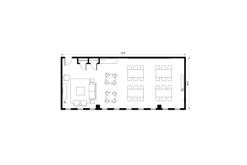 Floor-plan of 4060 Rue Ste-Catherine O., 4th Floor, Suite 410