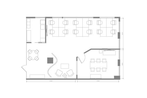 Floor-plan of Centre de Commerce Mondial, 747 Rue du Square-Victoria, 2nd Floor, Suite 2020