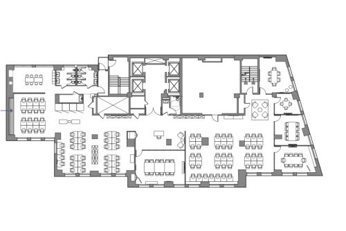 Floor-plan of Coming Soon: 1450 Broadway, 23rd Floor