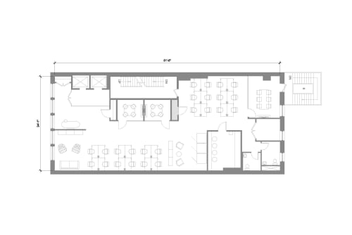 Floor-plan of 184 5th Ave, 4th Floor, Suite 400