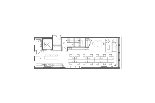 Floor-plan of 23 West 23rd Street, 3rd Floor, Suite 300