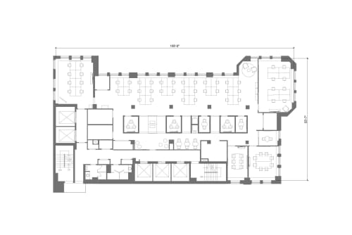 Floor-plan of 322 8th Ave, 18th Floor