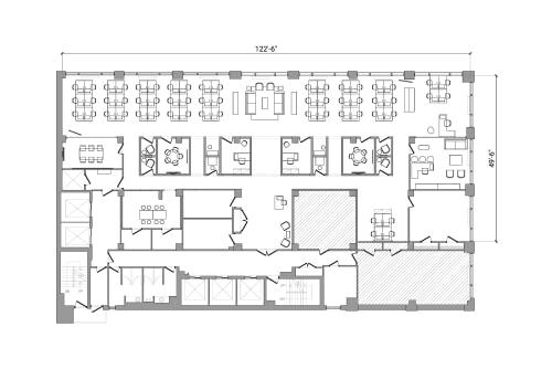 Floor-plan of 322 8th Ave, 3rd Floor, Suite 1