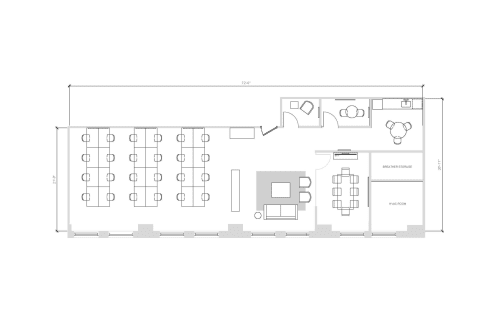 Floor-plan of 389 5th Avenue, 4th Floor, Suite 401