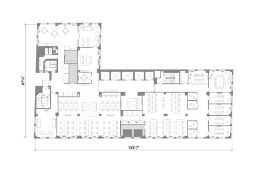 Floor-plan of 401 Broadway, 12th Floor