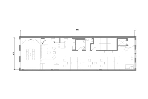 Floor-plan of 460 Broome Street, 3rd Floor, Suite 300