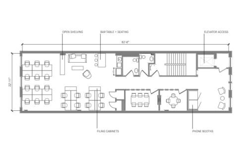 Floor-plan of Coming Soon: 460 Broome Street, 4th Floor, Suite 400