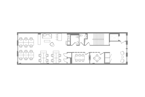 Floor-plan of Coming Soon: 460 Broome Street, 4th Floor, Suite 400