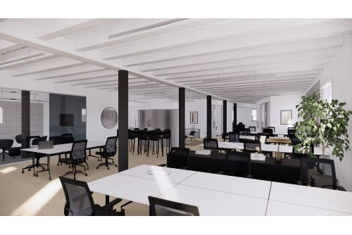 Office space located at Coming Soon: 54 Thompson Street, 4th Floor, #2
