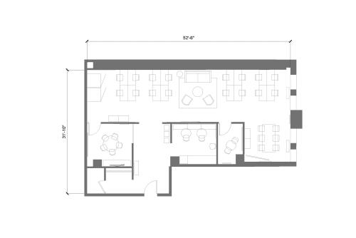Floor-plan of 636 Broadway, 7th Floor, Suite 704