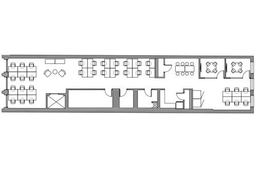 Floor-plan of Coming Soon: 734 Broadway, 2nd Floor, Suite 200