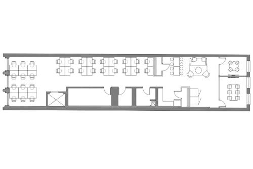 Floor-plan of 734 Broadway, 5th Floor, Suite 500