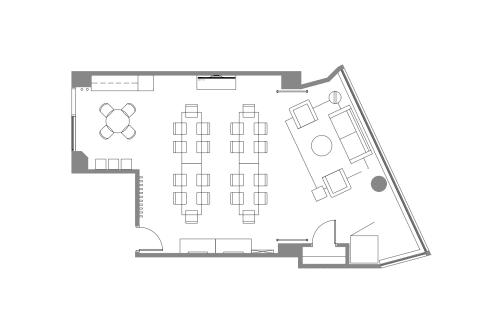 Floor-plan of 564 Market St., Mezzanine Floor, Suite 150