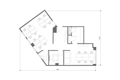 Floor-plan of 564 Market St., 3rd Floor, Suite 305