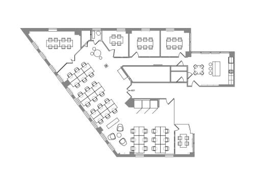 Floor-plan of 564 Market St., 4th Floor, Suite 401
